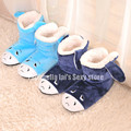 Super Warm Flannel Soft Bottom Floor Shoes Embroidery Animal Donkey Cartoon Indoor Boots Three-Dimensional Thickening at Home