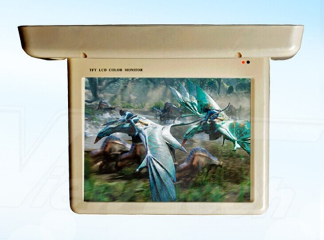 stable15\'\' flip down monitor motorized flip down bus monitor with ...