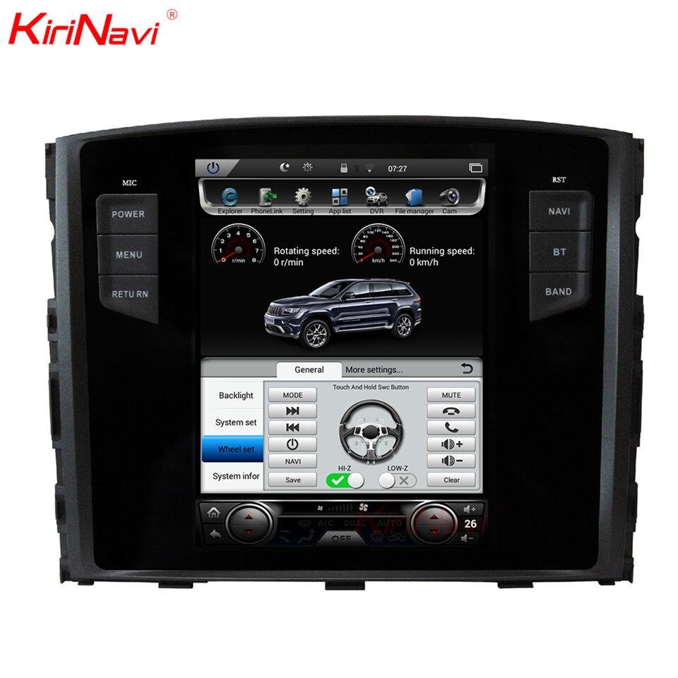KiriNavi Verticale Dello Schermo Tesla Stile Android 6.0 10.4 Car Multimedia DVD Player Per Mitsubishi Pajero GPS Radio Con Bluetooth