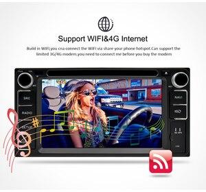 Image 5 - 유니버설 안드로이드 9.0 dvd gps 네비게이션 라디오 비디오 플레이어 스테레오 4g ram + 64g rom 2 din wifi 블루투스 헤드 유닛 차량용 멀티미디어