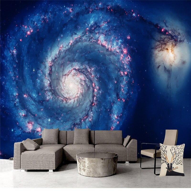 Universo Star ry Cielo Foto Murales Carta Da Parati Star Wars Paesaggio Carte Da Parati per Le Pareti 3D Soggiorno Camera Da Letto Sfondo Complementi Arredo Casa