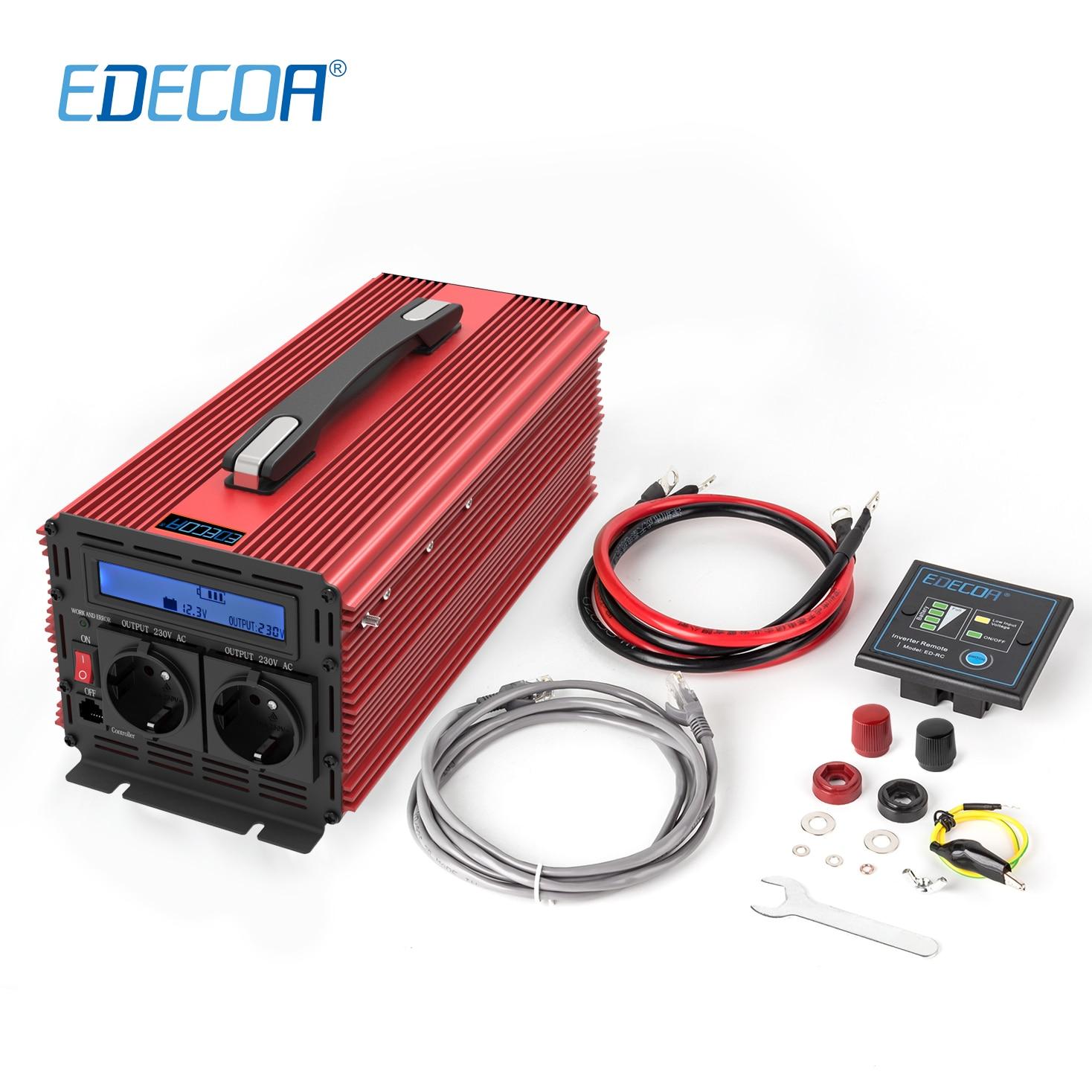 3000w DC 12v to AC 220v 230v 240v modified sine wave power inverter 6000w peak with