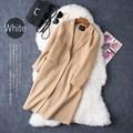 Women Winter Jacket Warm Wool Cashmere Turn-down collar Loose Plus Size Wide-Waisted Coat Female long Women Jacket Winter 1528