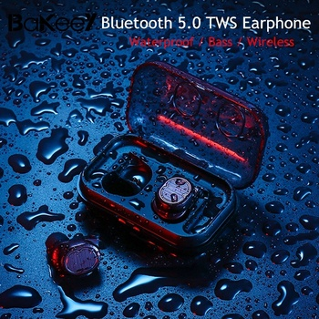 Wireless Stereo IPX5 Waterproof Bluetooth Earphone Bass Wireless Earbuds Earphones Headset Stereo Headphones With Charging Box