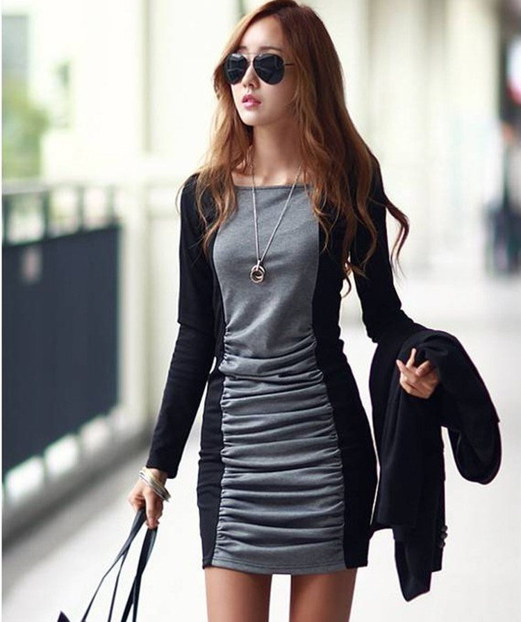 S Xxxl Casual Dresses 2018 Spring New Arrive Fashion O Neck Long