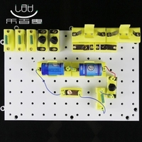 Physical electrical instrument box Circuitry experimental board light bulb holder no battery free shipping| |   -