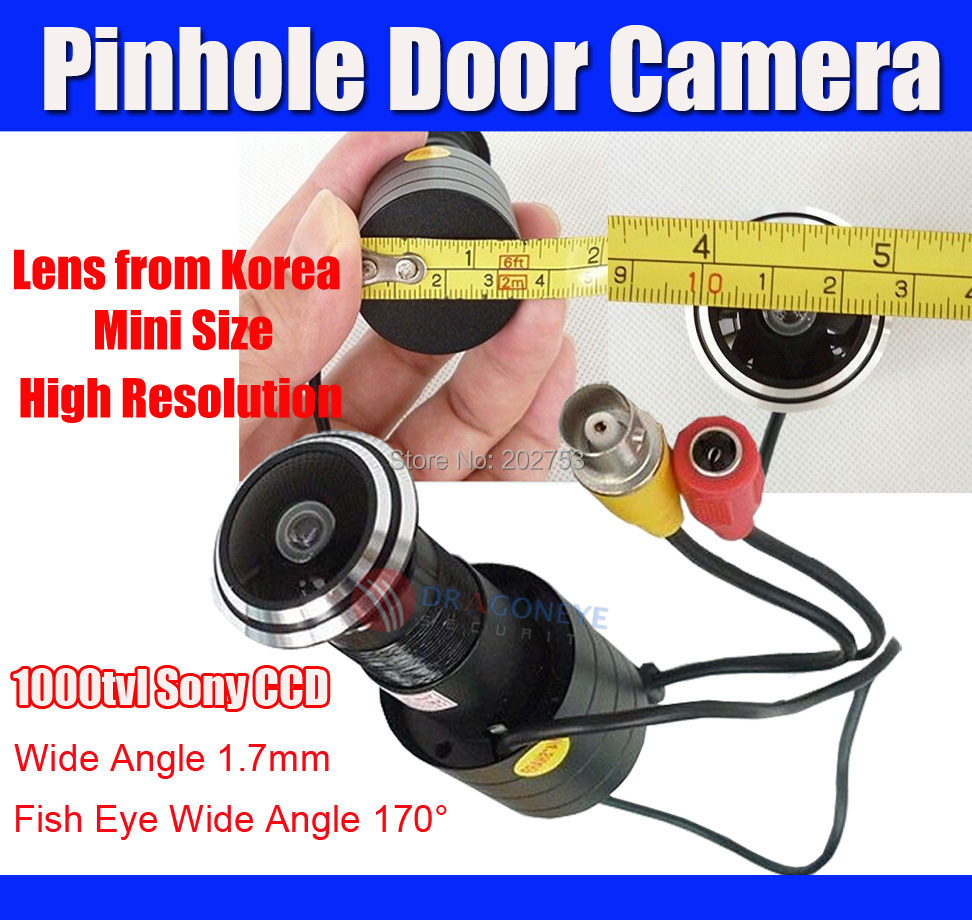 Sony 1000TVL Mini Door Eye Camera peehole camera Fisheye 1 70mm Wide Angle Lens 170 degree