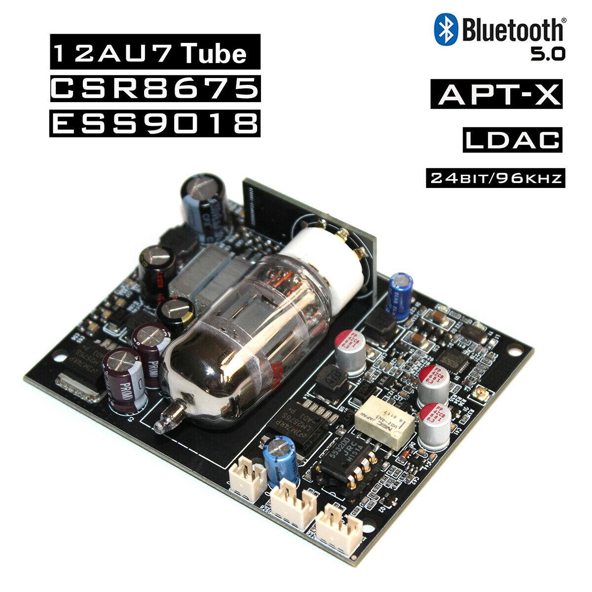 Nobsound 12AU7 Tube à vide CSR8675 carte récepteur Audio Bluetooth ES9018 décodage DAC APTX 24bit