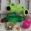 14CM Plants vs zombies 1pcs Repeater Twin doll plush toy Doll Top games Baby Toy for Children Gifts toys Hot sales