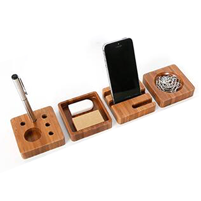 4pcs Set Creative Wooden Stationery Desk School Supplies Accessories Office Organizer Storage In From