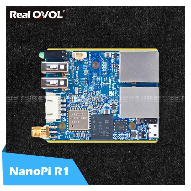 RealQvol FriendlyARM ELEC NanoPi R1 Allwinner H3 Gbps Ethernet On board Wifi Bluetooth OpenWRT