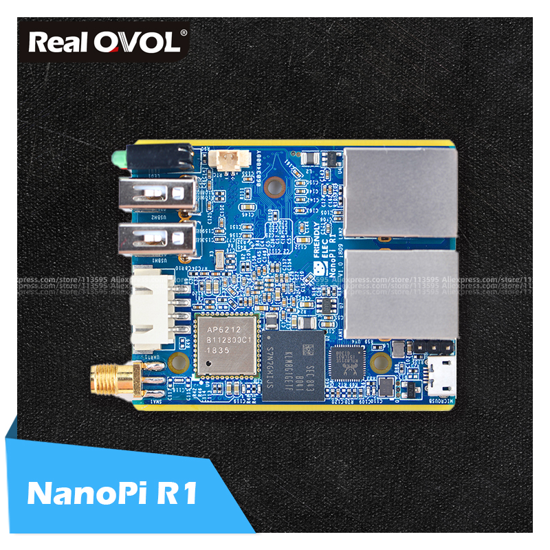 RealQvol FriendlyARM ELEC NanoPi R1 Allwinner H3 Gbps Ethernet On-board Wifi Bluetooth OpenWRT