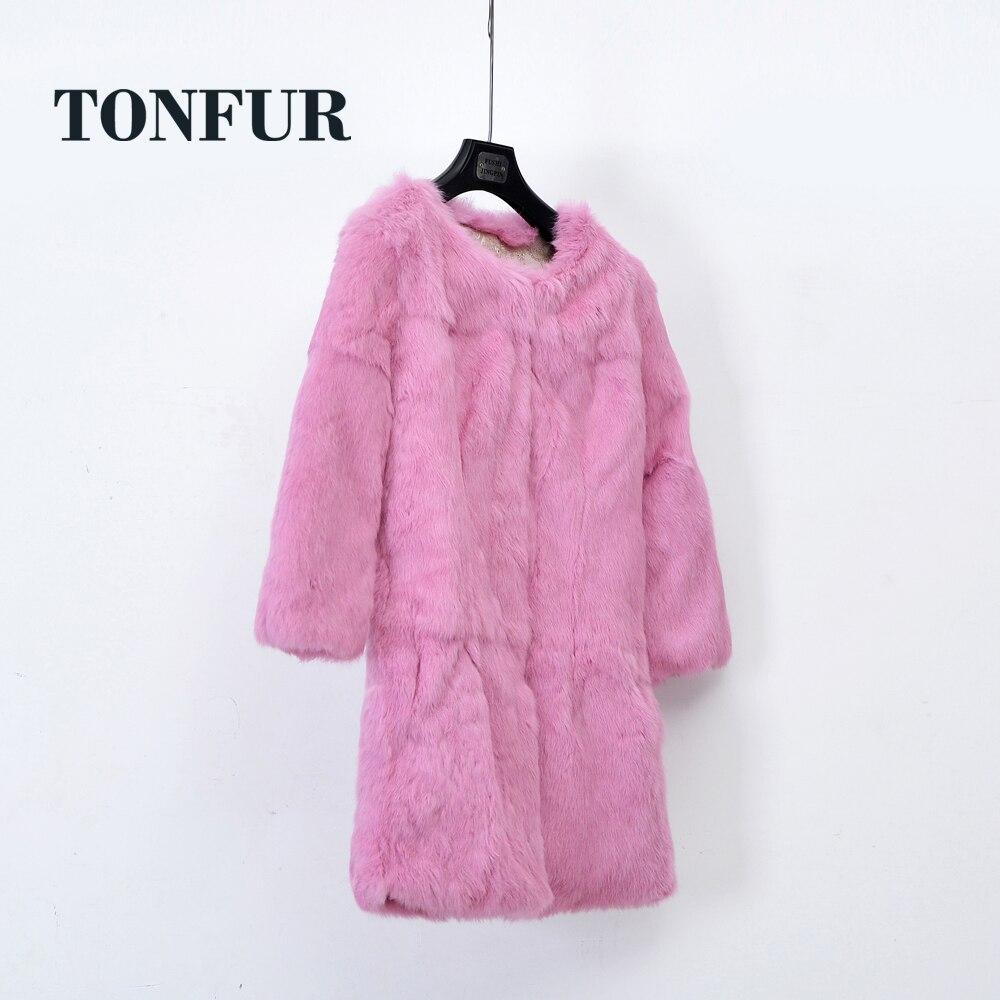 Usine en gros au détail personnaliser grande taille grand Multi couleurs prix de gros 100% naturel lapin fourrure manteau femmes pardessus WSR251-in Réel De Fourrure from Mode Femme et Accessoires    1