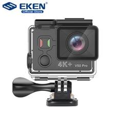 EKEN V50 פרו פעולה מצלמה Ambarella A12 IMX258 חיישן אמיתי 4K 30FPS אופנוע מצלמה WiFi ללכת עמיד למים מיני ספורט מצלמה
