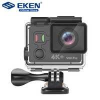 Eken v50 pro câmera de ação ambarella a12 imx258 sensor real 4 k 30fps câmera da motocicleta wifi ir à prova dwaterproof água mini câmera esportiva