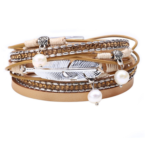 Pearl Multilayer Feather...