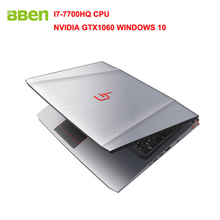 "Bben G16 15.6 ""Окна 10 Intel I7-7700HQ Процессор NVIDIA GTX1060 GDDR5 6 грамм FHD1920 * 1080 32 г Оперативная память 128 г/256 г/512 г M.2 SSD, 1 т/2 ТБ HDD"