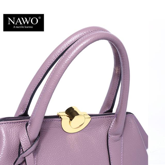 NAWO Luxury Handbags Genuine Real Leather Shoulder Bag