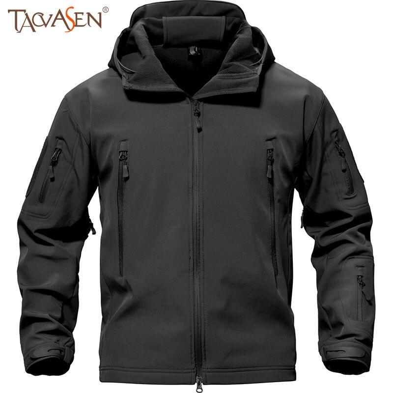 Для Мужчин's Рыбалка куртка Водонепроницаемый лыжный Походные куртки пальто тактический Софтшелл куртка Военная Униформа плюс Размеры 4XL Одежда для охоты
