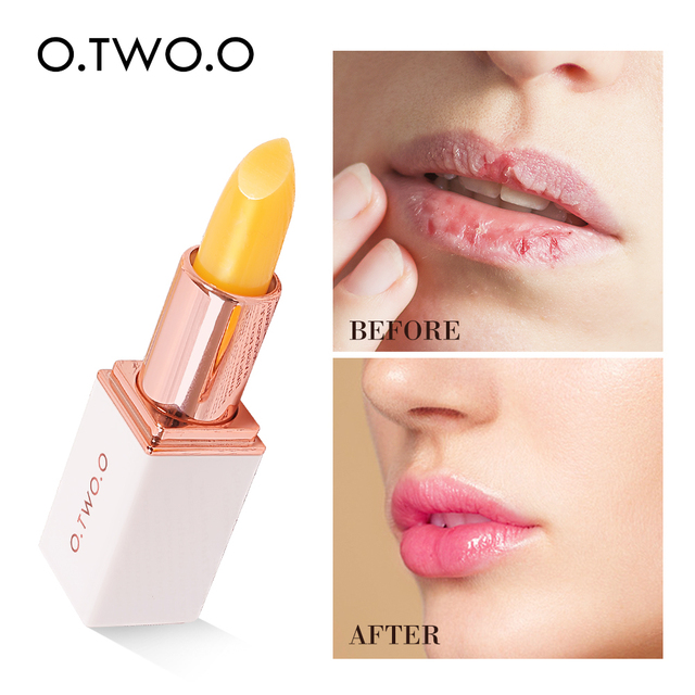 O.TWO.O Temperature Change Color Lip Balm Pink Hygienic Moisturizing Nutritious Jelly Lipstick Anti Aging Makeup Lip Care 1