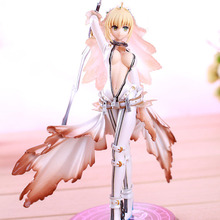 Fate Stay Night Anime Saber Nero Bride Version saber lily 22cm PVC Action