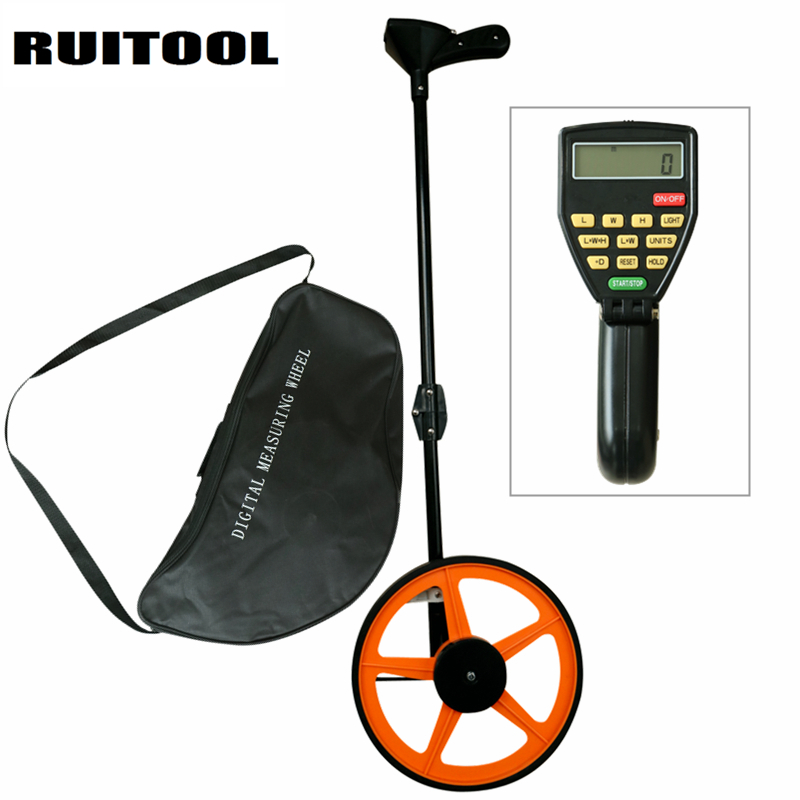 RUITOOL 32CM Digital Distance Measuring Wheel 0~999999.9M Folding Meter Surveying Counter Distance Measuring ToolRUITOOL 32CM Digital Distance Measuring Wheel 0~999999.9M Folding Meter Surveying Counter Distance Measuring Tool