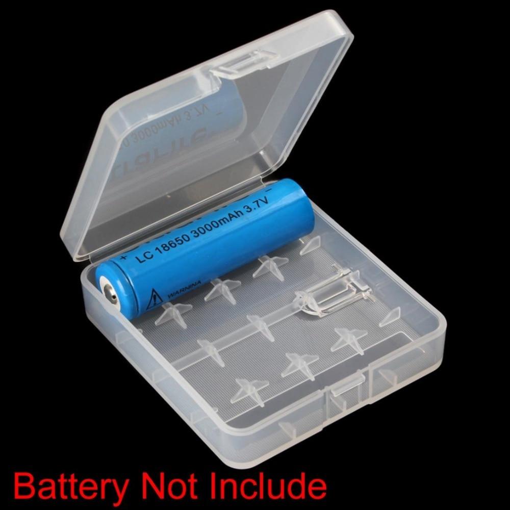 For 4 x 18650 Batteries Portable Hard Plastic Battery Case Holder Storage Box