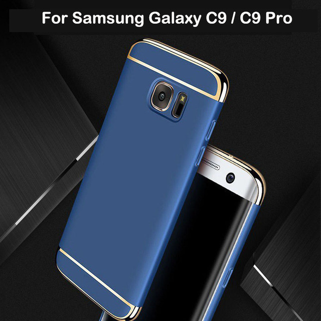 uk availability 7c8cd 731e2 US $5.19 35% OFF|3 in 1 Case For Samsung Galaxy C9 C9 Pro Case Hard Luxury  Back Cover 360 Degree Protection Ultra Thin Slim For Samsung C9 C9 Pro-in  ...