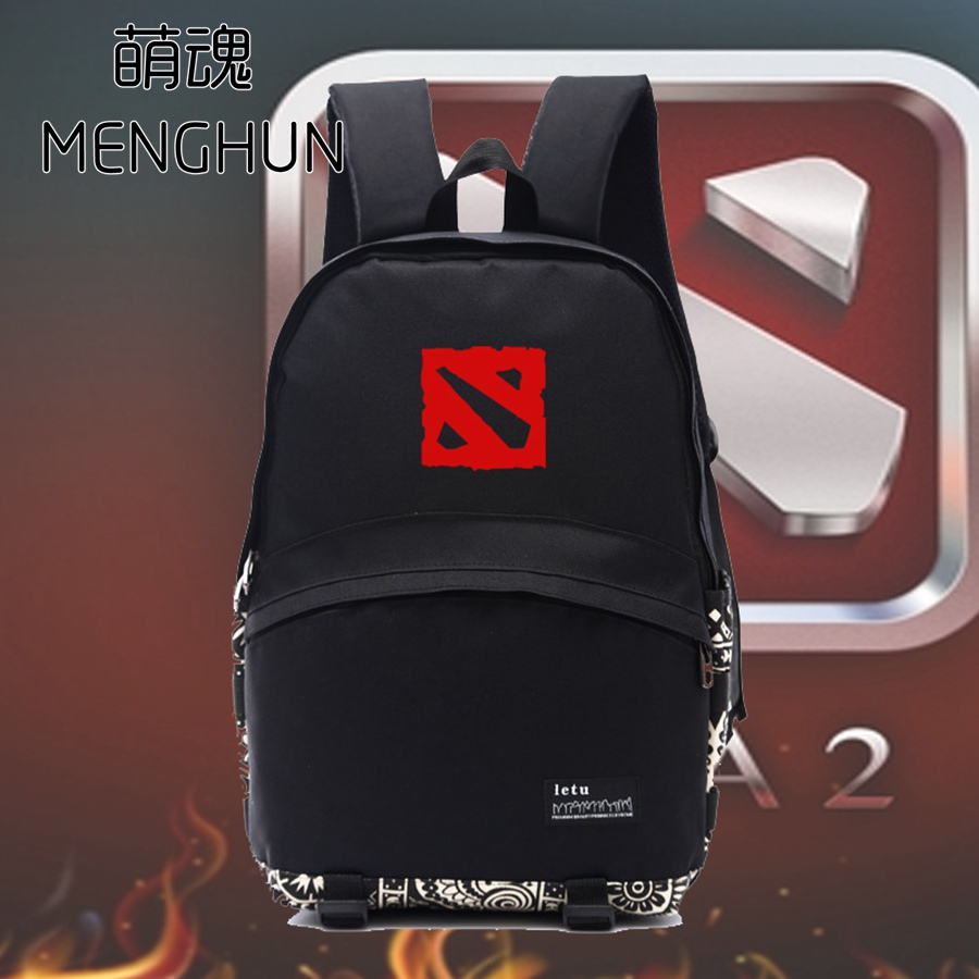 Dota/Dota 2 game fans backpack Red Dota logo printing backpack for school student TI championship shield printing backpack NB088
