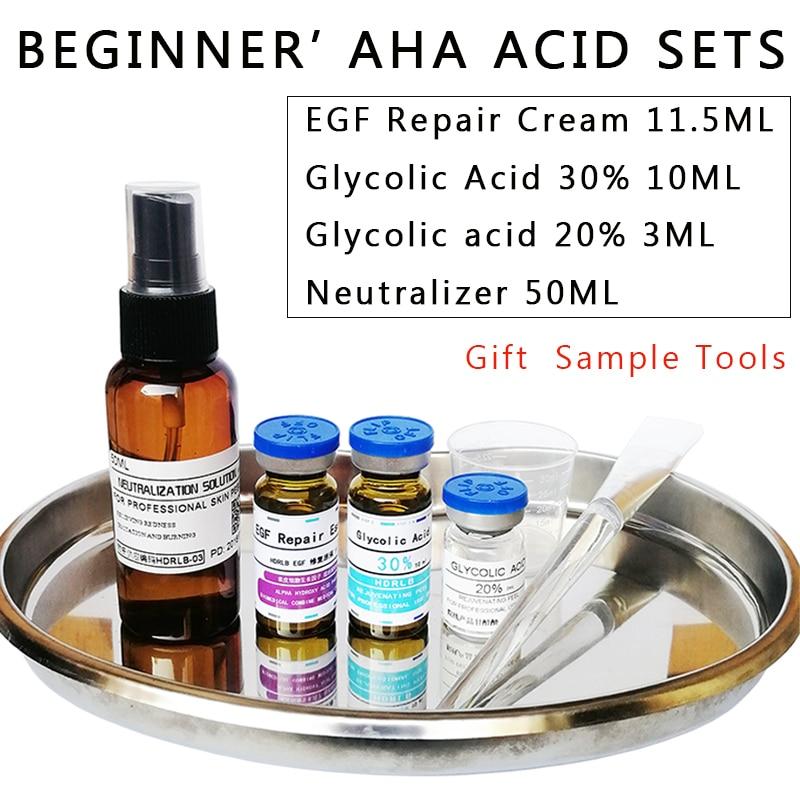 618 Crazy sales glycolic acid chemical peel beginner AHA ACID sets Freckle remover Remove Acneskin treatment face exfoliator