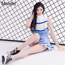 Mnotht Blue 1/6 Solider Women Dress  VS037 Sportswear Cheerleading Clothes For 12in Figures l30
