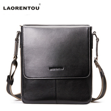 Laorentou Brand New Arrival 100% Genuine Cow Leather Shoulder Bags For Men Business Crossbody Shoulder Bag Men's Travel Bag