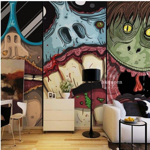3D Fototapete Japanischen Horror Animierte Cartoon Monster Cartoon Thema  Hintergrund Wand Wohnzimmer Wandbild Tapete Badezimmer