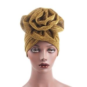 Image 3 - Women Hat Arab Indian Muslim Flower Hijab Headwrap Hat Headwear Islamic Turban Elastic Glitter Abaya Turban Inner Cap Bonnet New