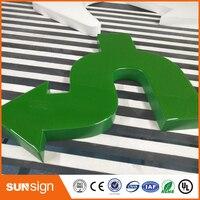 Клиент водонепроницаемые эпоксидной смолы светодиодный Букв знаки Outdoor Outlet Рекламные световые буквы магазине логотип