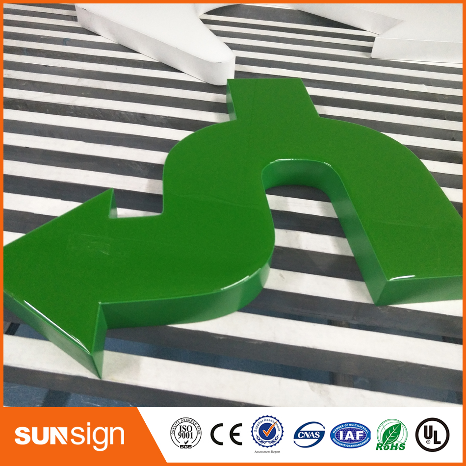 Customer Water Proof Resin Epoxy Led Letters Signs Outdoor Outlet   Advertising Light Letters Store Logo