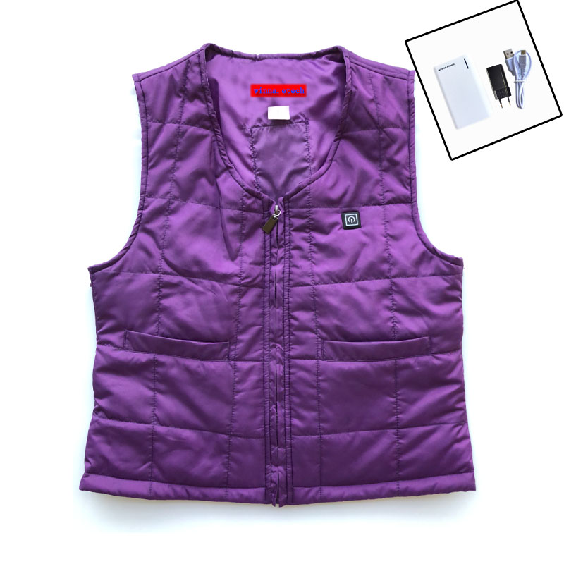 NEW USB POWER heated vest winter women warm thick vest 3 level woman vest for Outdoor mountain camping size s-xxxl new charging heated down vest man skiing vest winter warm down thick vest camping hiking keep body warm black s xxxl