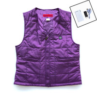 NEW USB POWER Heated Vest Winter Women Warm Thick Vest 3 Level Woman Vest For Outdoor
