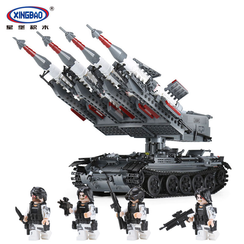 Xingbao 06004 Military Series The SA-3 missile and T55 Tank Set Children Toy legoinglys Educational Building Blocks Bricks Gifts the new hot promotions 1 30 military vehicles dongfeng 11a missile launch vehicle model alloy office decoration