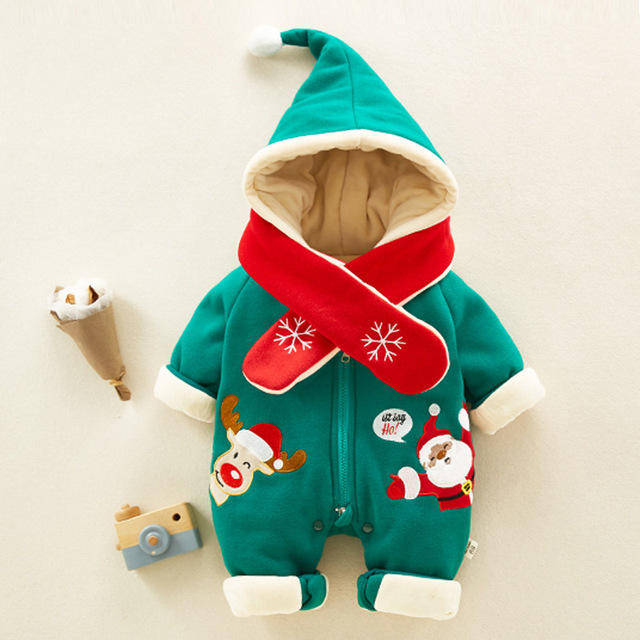 3ac0ed484 Navidad bebé otoño mamelucos dibujos animados niña niño Jumpers niños bebé  trajes ropa bebé invierno ropa