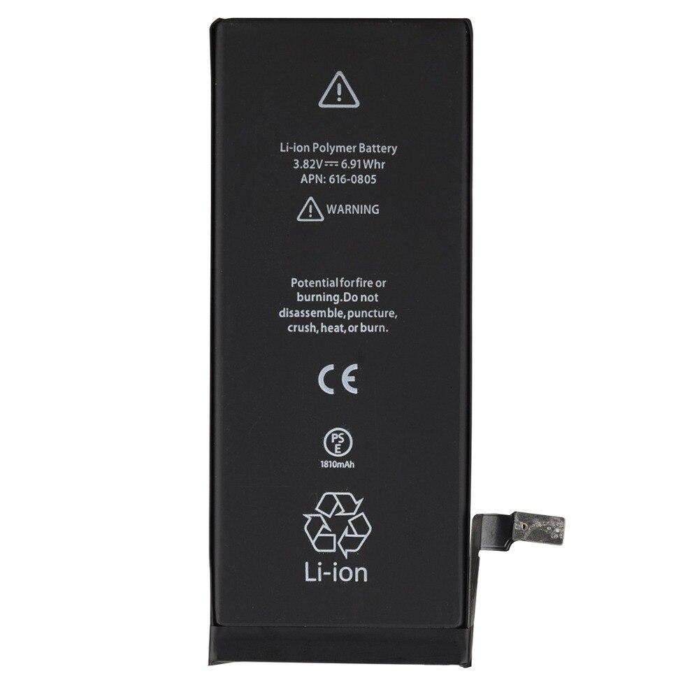100% mais novo bateria de lítio para apple iphone 6 s 6 7 5S 5 substituição baterias móveis para iphone 5 5s 6 s telefone interno bateria