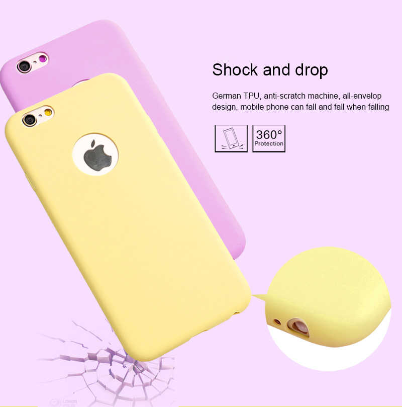 Silicone Case for iPhone 5S 5 SE iPhone 6S 6 s iPhone 8 7 X 10 XR XS Max 6Plus 6SPlus 7Plus 8Plus Cell Phone Cover Casing