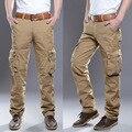 2016 Падение Мужская Прочный Cargo Pants Армия Milltary Комбинезоны Брюки Тактические Случайные Сплошной Цвет Брюки Размер