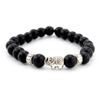 Natural Stone Bead Buddha Bracelets  For Women Men Jewelry 1