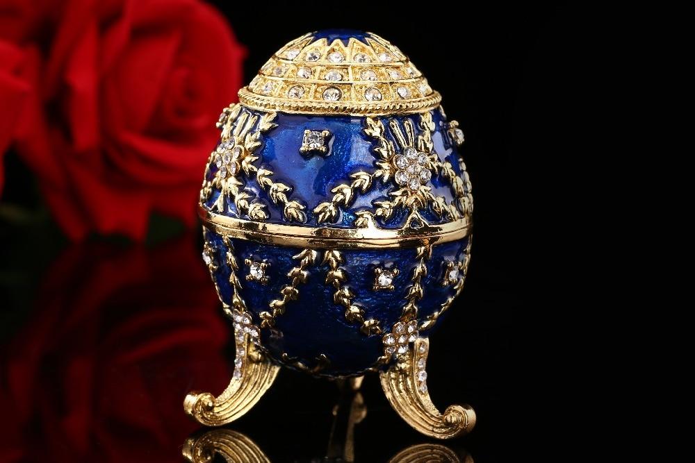 QIFU Nové příchozí velikonoční vajíčko z modrého zlata