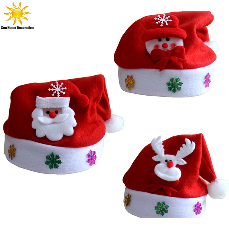 Santa Snowman Reindeer Kids Christmas Hat Christmas Gifts For Children Mew Year Gift ...