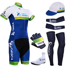 2015 bike team Orica cycling jersey quick dry polyester Greenedge cycling shirts bibs shorts gel cycle Maillot Culotte full set