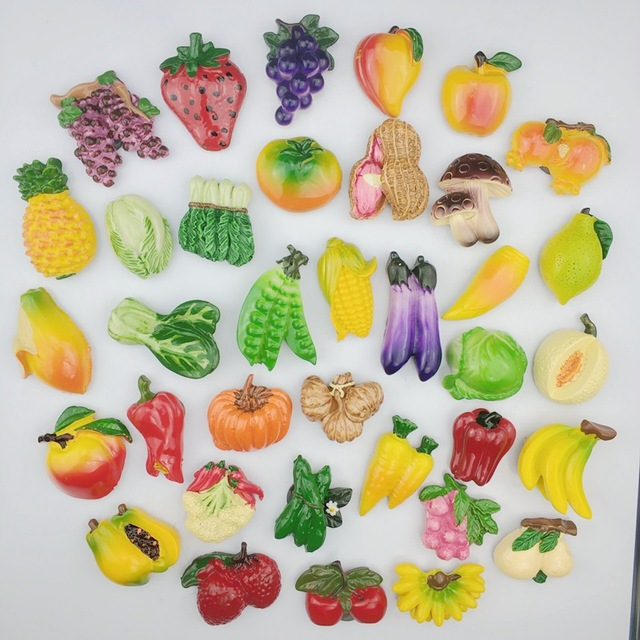 3d Fruit Vegetable Fridge Magnet Creative Cartoon Refrigerator