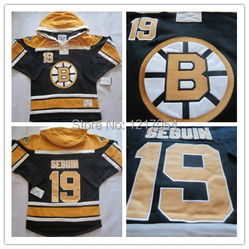 buy online b3895 672e0 old time hockey boston bruins 19 tyler seguin black hoodie