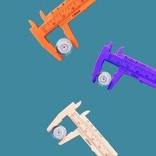 80mm Plastic Caliper Accurate Measurement Tools Standard Vernier Caliper Jade Measurement Ruler Promotional Gifts Color Random